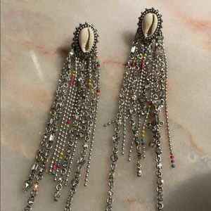 Gorgeous Dannijo shell fringe earrings